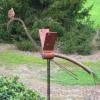 "~ Sold Rosy Heron 34"" wide   12"" deep  variable height Spins in the wind"
