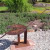 "~ Sold Rusty Spoonbill 38"" high   64"" wide   32"" deep"