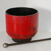 "~ Sold Simply Scarlet Bowl 6"" high  7"" diameter"